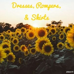 Dresses, Rompers, and Skirts